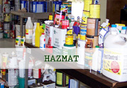 Collection of chemical bottles - Hazmat
